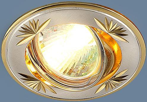 Встраиваемый светильник Elektrostandard 104A MR16 SS/GD сатин серебро/золото 4607138143980  точечный светильник elektrostandard 863a ss сатин серебро