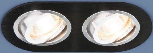 Встраиваемый светильник Elektrostandard 1061/2 MR16 BK черный 4690389095467 elektrostandard встраиваемый светильник elektrostandard 1061 2 mr16 bk черный 4690389095467