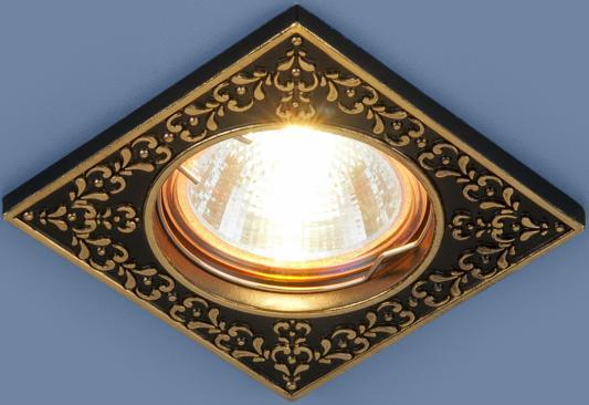 Встраиваемый светильник Elektrostandard 120071 MR16 BK/GD черный/золото 4690389060335