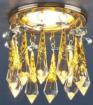 Встраиваемый светильник Elektrostandard 2021 MR16 золото/тонированный/голубой 4690389027765