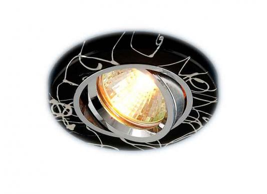 Встраиваемый светильник Elektrostandard 2050 MR16 BK/SL черный/серебро 4690389000379 торговый дом ника 2050 mr x4 подсвечник 7 ми рожковый размер 31х18х40 см 2050 mr 2050 mr 2050 mr