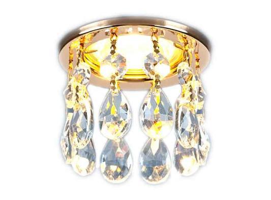Встраиваемый светильник Elektrostandard 2055 MR16 GD/CL золото/прозрачный 4690389029417 встраиваемый светильник elektrostandard 1063 gx53 gd cl золото прозрачный 4690389075674