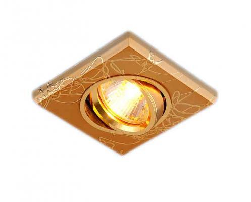 Встраиваемый светильник Elektrostandard 2080 MR16 GD золото 4690389002144 elektrostandard электронный пускорегулирующий аппарат эпра elektrostandard bls 03 t4 20w 4690389037078