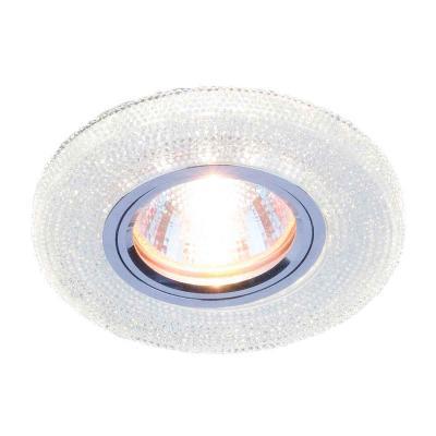 Встраиваемый светильник Elektrostandard 2130 MR16 CL прозрачный 4690389073281 elektrostandard встраиваемый потолочный светильник со светодиодной подсветкой elektrostandard 2130 mr16 cl прозрачный 4690389073281