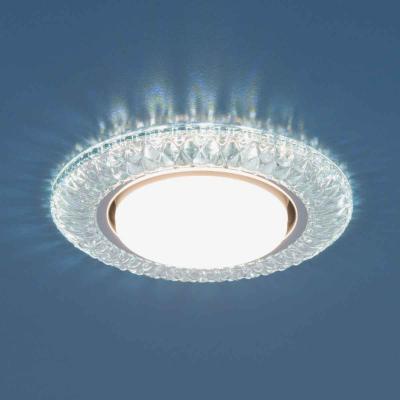 Встраиваемый светильник Elektrostandard 3020 GX53 CL прозрачный 4690389083266 elektrostandard встраиваемый светильник со светодиодами elektrostandard 3020 желтая подсветка yl led 4690389030482