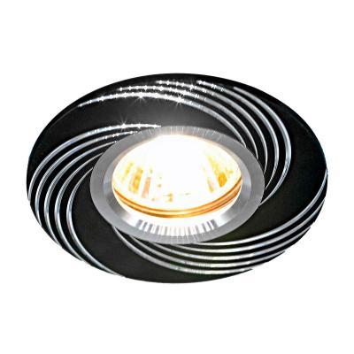 Фото - Встраиваемый светильник Elektrostandard 5156 MR16 BK черный 4690389081361 cветильник галогенный de fran встраиваемый 1х50вт mr16 ip20 зел античное золото