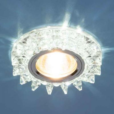 Фото - Встраиваемый светильник Elektrostandard 6037 MR16 SL зеркальный/серебро 4690389060687 cветильник галогенный de fran встраиваемый 1х50вт mr16 ip20 зел античное золото