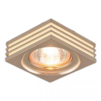 Встраиваемый светильник Elektrostandard 6064 MR16 GD золото 4690389055652 elektrostandard электронный пускорегулирующий аппарат эпра elektrostandard bls 03 t4 20w 4690389037078