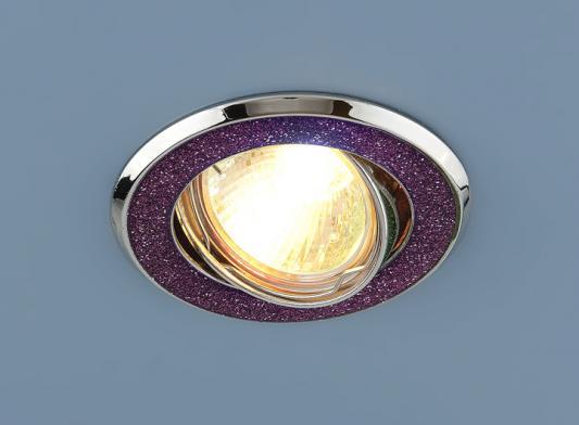 Фото - Встраиваемый светильник Elektrostandard 611 MR16 MUС малиновый блеск/хром 4607138144123 cветильник галогенный de fran встраиваемый 1х50вт mr16 ip20 зел античное золото