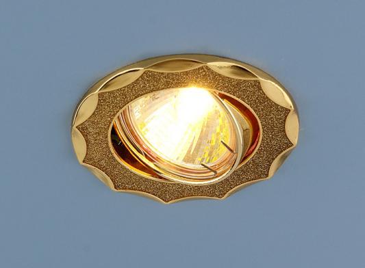 Встраиваемый светильник Elektrostandard 612 MR16 GD золотой блеск/золото 4690389000102