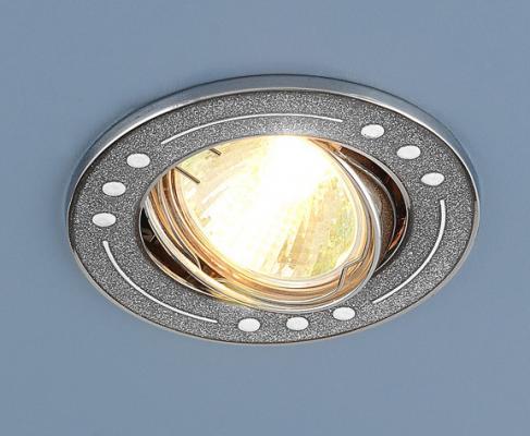 Фото - Встраиваемый светильник Elektrostandard 615 MR16 SL серебряный блеск/хром 4607138145267 cветильник галогенный de fran встраиваемый 1х50вт mr16 ip20 зел античное золото