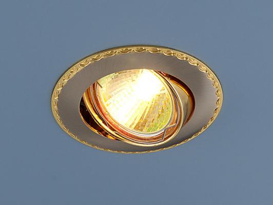 Встраиваемый светильник Elektrostandard 635 MR16 SNG сатин никель/золото 4690389010996 farol ваза ether