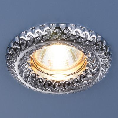Фото - Встраиваемый светильник Elektrostandard 7001 MR16 SL серебряный блеск/хром 4690389074165 cветильник галогенный de fran встраиваемый 1х50вт mr16 ip20 зел античное золото