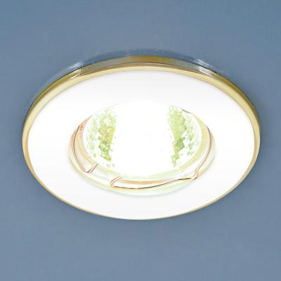 Встраиваемый светильник Elektrostandard 7002 MR16 WH/GD белый/золото 4690389082528 встраиваемый светильник elektrostandard 7010 mr16 wh gd белый золото 4690389099250