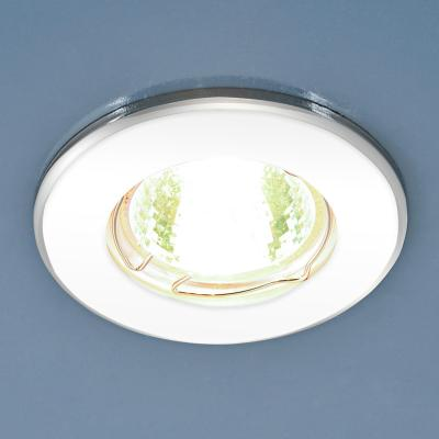 Встраиваемый светильник Elektrostandard 7002 MR16 WH/SL белый/серебро 4690389082511