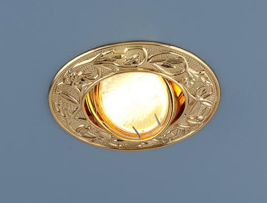 Встраиваемый светильник Elektrostandard 711 MR16 GD золото 4607138143454 часы настенные zero branko zb0423
