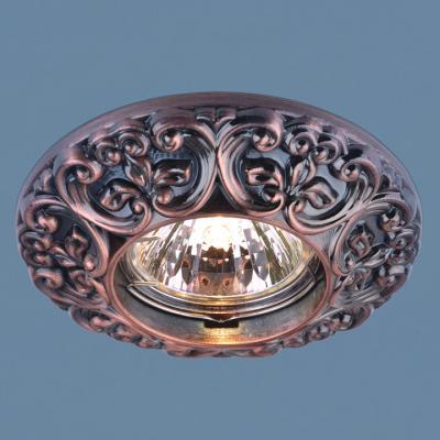 Встраиваемый светильник Elektrostandard 7216 MR16 RAB медь 4690389060373 часы настенные zero branko zb0423