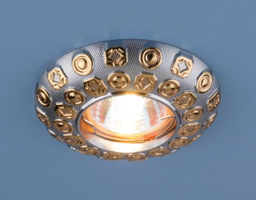 Встраиваемый светильник Elektrostandard 7219 MR16 CHG хром/золото 4690389052996