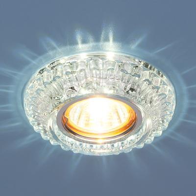 Фото - Встраиваемый светильник Elektrostandard 7247 MR16 СL прозрачный 4690389069222 cветильник галогенный de fran встраиваемый 1х50вт mr16 ip20 зел античное золото