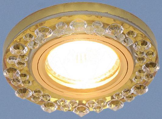 Встраиваемый светильник Elektrostandard 8260 MR16 YL/GD зеркальный/золото 4690389056697 elektrostandard встраиваемый светильник со светодиодами elektrostandard 3020 желтая подсветка yl led 4690389030482
