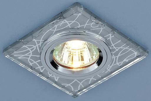 Встраиваемый светильник Elektrostandard 8370 MR16 CH хром 4690389005947 elektrostandard электронный пускорегулирующий аппарат эпра elektrostandard bls 03 t4 20w 4690389037078