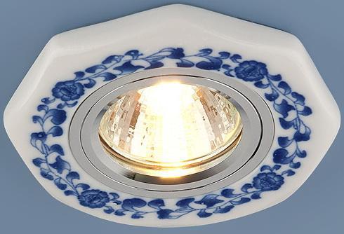 Встраиваемый светильник Elektrostandard 9033 керамика MR16 бело-голубой (WH/BL) 4690389018787