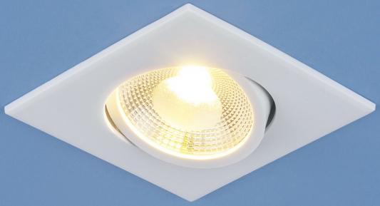 Встраиваемый светодиодный светильник Elektrostandard DSS001 6W 4200K белый 4690389081828  встраиваемый потолочный светодиодный светильник elektrostandard dlss170 18w 4200k теплый белый