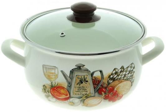 Фото - Кастрюля INTEROS Аппетит 24 см 5.7 л эмалированная сталь 15157 чайник interos 15157 аппетит 3 л металл белый рисунок