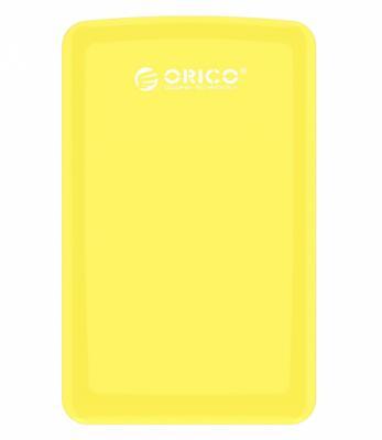 Внешний контейнер для HDD 2.5 SATA Orico 2579S3-OR USB3.0 желтый внешний контейнер для hdd 2x3 5 sata orico 9528u3 usb3 0 серебристый