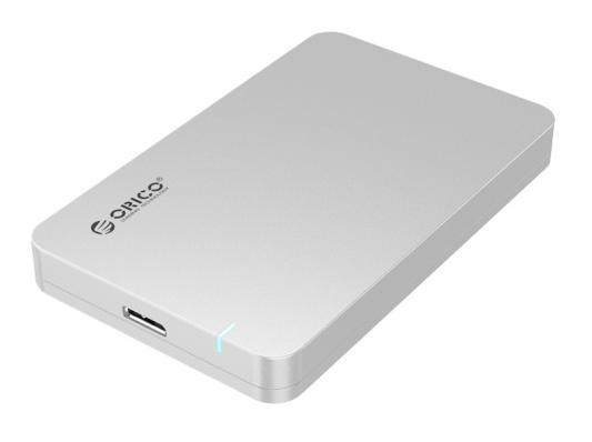 Внешний контейнер для HDD 2.5 SATA Orico 2569S3-SV USB3.0 серебристый внешний контейнер для hdd 2x3 5 sata orico 9528u3 usb3 0 серебристый