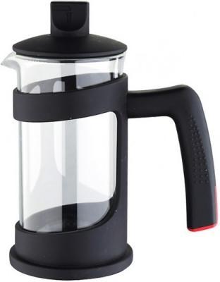 Френч-пресс Bergner BG-7325-BK чёрный 0.8 л пластик/стекло