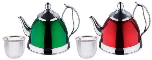 Чайник заварочный Wellberg WB-6128 цвет в ассортименте 1 л нержавеющая сталь