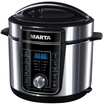 Мультиварка Marta MT-4321 черный жемчуг 900 Вт 5 л набор столовых приборов marta mt 2701 twinkle