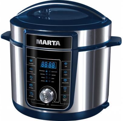 Мультиварка Marta MT-4320 синий сапфир 900 Вт 5 л набор столовых приборов marta mt 2701 twinkle