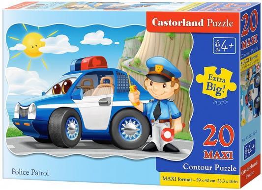 все цены на Пазл 20 элементов Кастор 20 maxi Полицейский патруль С-02252
