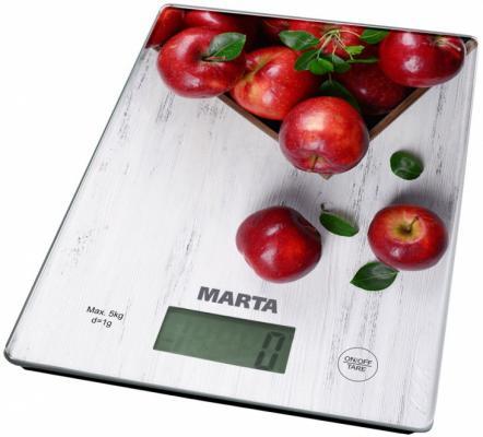 Весы кухонные Marta MT-1634 белый рисунок