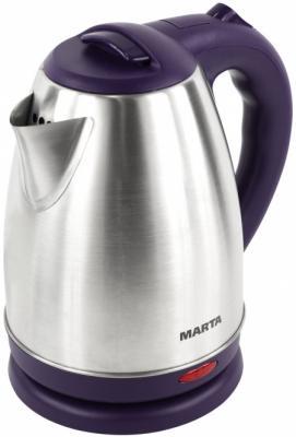 Чайник Marta MT-1083 1800 Вт серебристый фиолетовый 2 л нержавеющая сталь