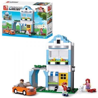 Купить Конструктор SLUBAN Город - Двухэтажный дом 305 элементов, Пластмассовые конструкторы