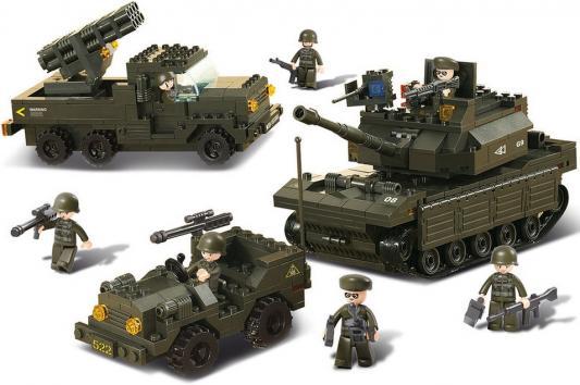 Конструктор SLUBAN Армия - Полевые учения 602 элемента M38-B6800 конструкторы sluban армия патрульный автомобиль 101 деталь