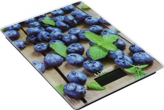Весы кухонные Lumme LU-1340 рисунок черничная россыпь кухонные весы lumme lu 1327 бронза