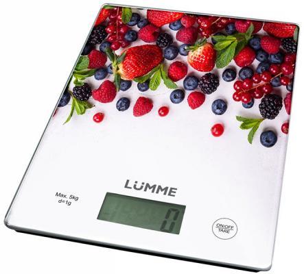 Весы кухонные Lumme LU-1340 лесная ягода рисунок разноцветный