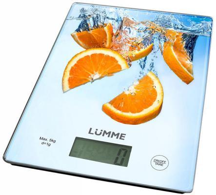 Весы кухонные Lumme LU-1340 апельсиновый фреш разноцветный рисунок весы кухонные lumme lu 1340