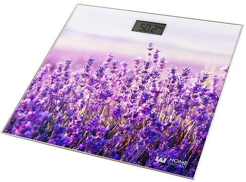 Весы напольные HOME ELEMENT HE-SC906 рисунок лаванда фиолетовый