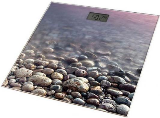 Весы напольные HOME ELEMENT HE-SC906 рисунок каменистый пляж