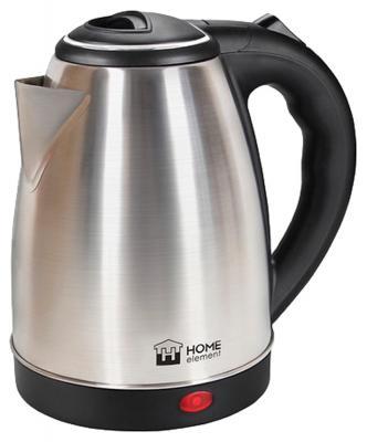 Чайник HOME ELEMENT HE-KT-160 1800 Вт серебристый чёрный 2 л нержавеющая сталь