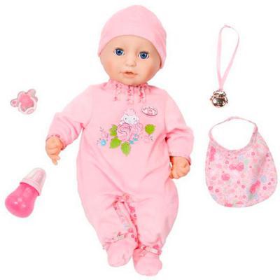 Пупс ZAPF Creation Беби Анабель 46 см чмокающая смеющаяся плачущая с мимикой 794-821 кукла zapf creation беби анабель 43 см плачущая 626368