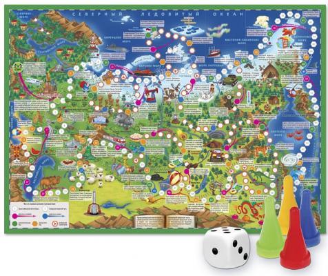Настольная игра Геодом ходилка Путешествие по России arsstar настольная игра elfenland волшебное путешествие
