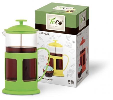 Френч-пресс Teco TC-P1035-G зелёный 0.35 л пластик/стекло