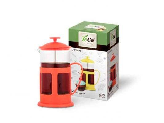 Френч-пресс Teco TC-P1035-R красный 0.35 л пластик/стекло френч пресс teco tc p1035 350ml