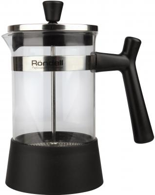 Френч-пресс Rondell Wonder RDS-426 чёрный 0.6 л пластик/стекло френч пресс 0 6 л rondell rds 426
